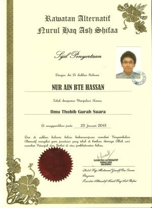 Gurah Suara certification